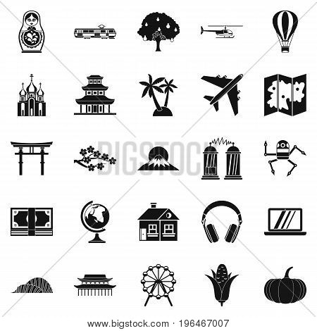 World heritage icons set. Simple set of 25 world heritage vector icons for web isolated on white background