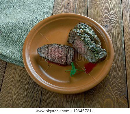 Spiced Corned Silverside Beef. meat cuisine close up