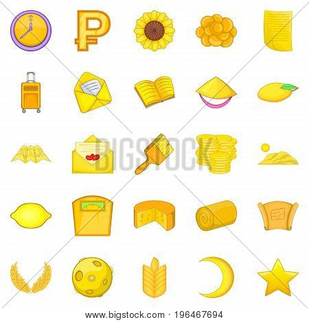 Agriculture icons set. Cartoon set of 25 agriculture vector icons for web isolated on white background