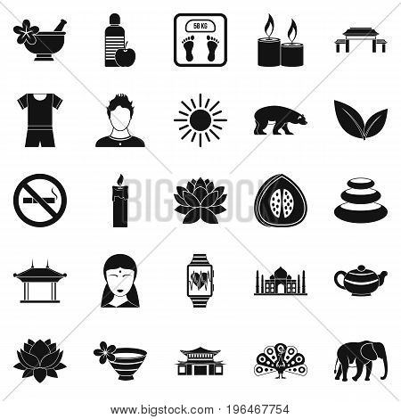 Healthcare icons set. Simple set of 25 healthcare vector icons for web isolated on white background