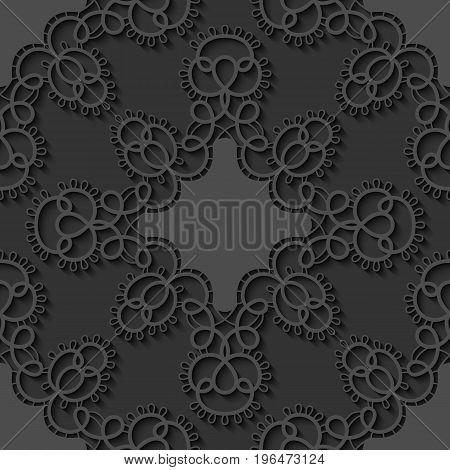 Elegant seamless lace pattern. Openwork background. Vector Illustration