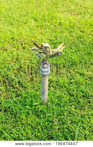 sprinkler in garden use for water for flower
