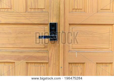 Door handle chrome door knobDoor lock safety house concept