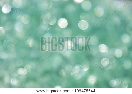 bokeh of circle green light for background