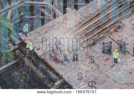 Image of construction site from a high angle.