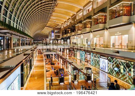 View Of Boutiques At The Shoppes At Marina Bay Sands