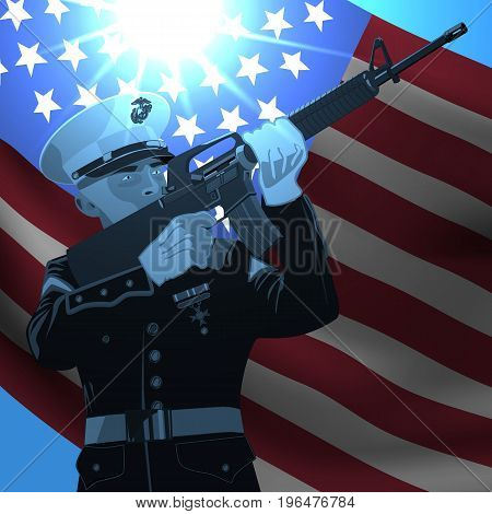 Memorial day. independence day. Honor patriots. Vector illustration