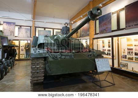 PAROLA, FINLAND - JUNE 10, 2017: German self-propelled assault gun Sd.Kfz. 142 (StuG III Ausf.G) of the 1944 model in the exposition of the museum of armored vehicles