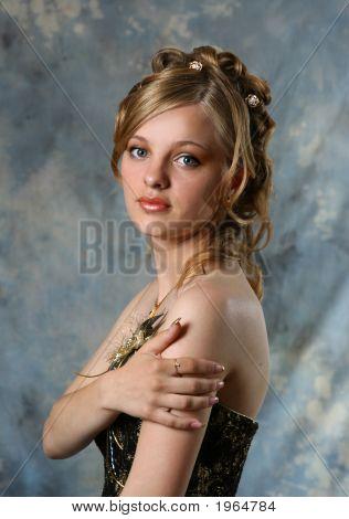 Beauty Girl In Studio