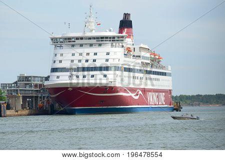 HELSINKI, FINLAND - JUNE 11, 2017: Maritime tourist ferry