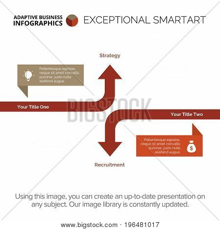 Arrow diagram. Business data. Element of presentation, brochure, diagram. Concept for infographics, templates, reports. Can be used for topics like business strategy, marketing analysis, management