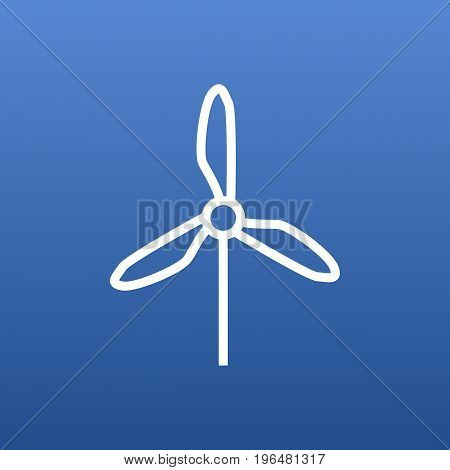 Isolated Wind Energy Outline Symbol On Clean Background