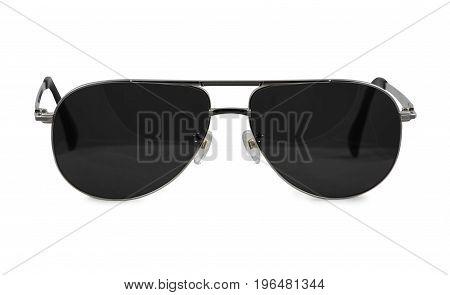 sunglasses on white background / glasses .