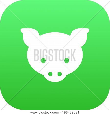 Vector Hog Element In Trendy Style. Isolated Pig Icon Symbol On Clean Background.