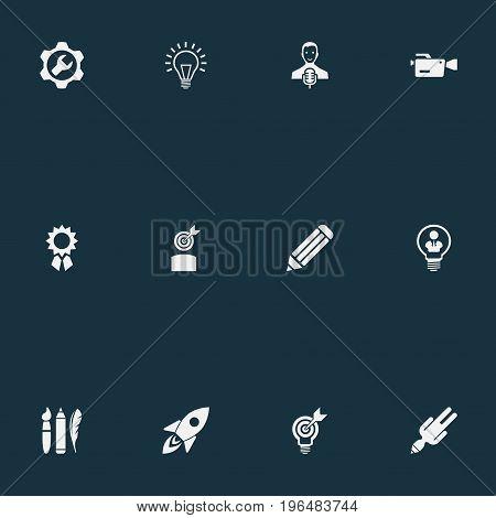 Vector Illustration Set Of Simple Visual Art Icons