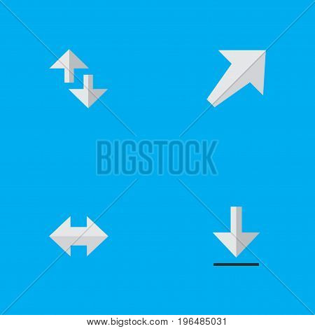 Elements Loading, Southwestward, Cursor And Other Synonyms Alert, Everyway And Arrow. Vector Illustration Set Of Simple Arrows Icons.