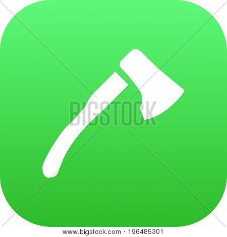 Isolated Ax Icon Symbol On Clean Background. Vector Wood Axe Element In Trendy Style.