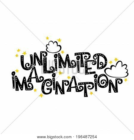 Unlimited imagination.  Font. Letters with holes. English alphabet. Isolated vector objects on white background.