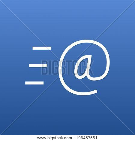 Vector Email Element In Trendy Style. Isolated Message Outline Symbol On Clean Background.