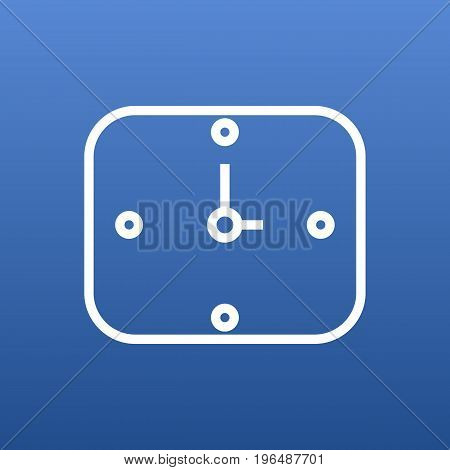 Isolated Time Outline Symbol On Clean Background. Vector Wall Clock Element In Trendy Style.