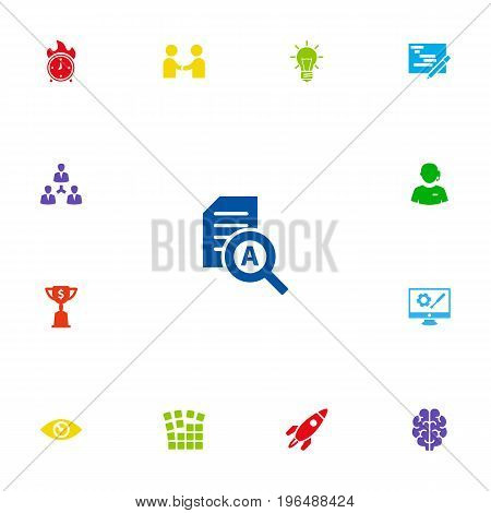 Set Of 13 Idea Icons Set. Collection Of Goblet, Intelligence, Vision And Other Elements.