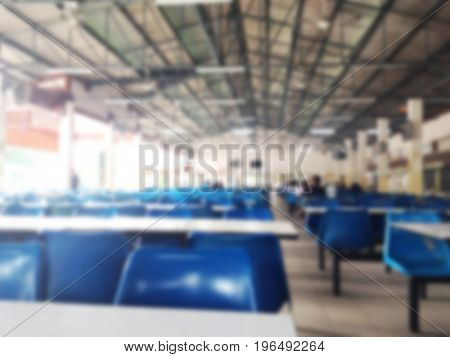 Abstract blur background of Canteen for design backdrop to Presentation or business promotion.