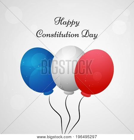 illustration of colorful balloons with Happy Constitution Day text on the occasion of USA Constitution day