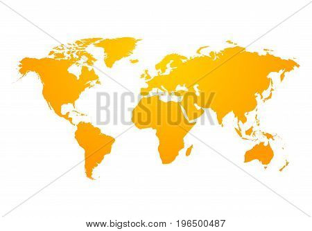 Vector world map global earth icon. America, asia, australia, africa, usa. Abstract modern design of world map.