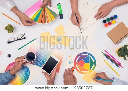 Concept Of Designer Teamwork Brainstorming Planning Meeting