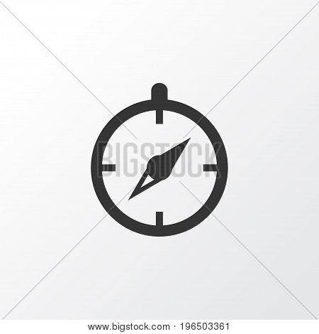Premium Quality Isolated Guide Element In Trendy Style. Compass Icon Symbol.