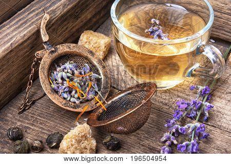 Healing, Herbal Tea With Lavender
