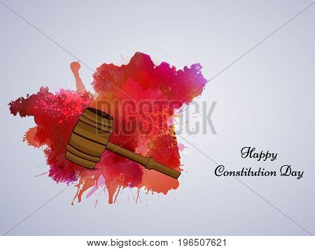illustration of Gavel with Happy Constitution Day text on the occasion of USA Constitution Day