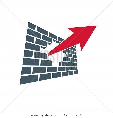 Business innovation logo isolated on white background. Vector boost up arrow graphic design element. Company start up concept.