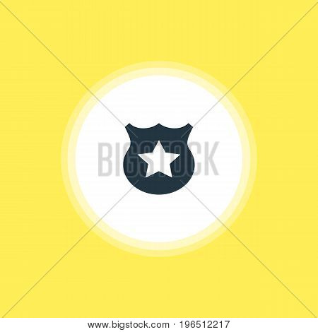 Beautiful Check-In Element Also Can Be Used As Cop  Element. Vector Illustration Of Police Icon.