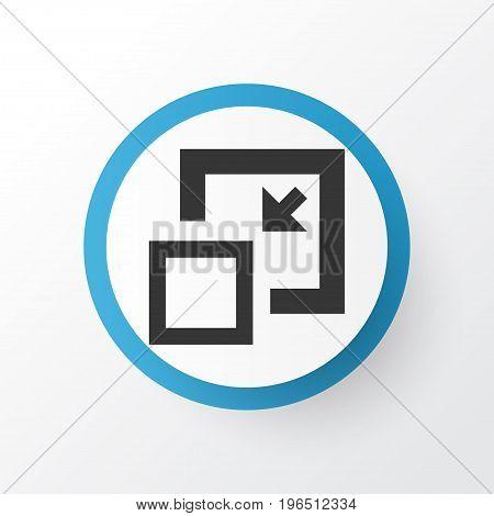 Premium Quality Isolated Decrease Element In Trendy Style. Minimize Icon Symbol.