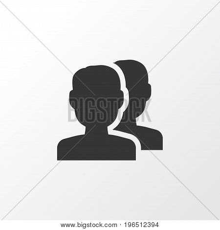 Premium Quality Isolated People Element In Trendy Style. Group Icon Symbol.