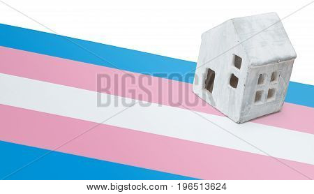 Small House On A Flag - Transgender