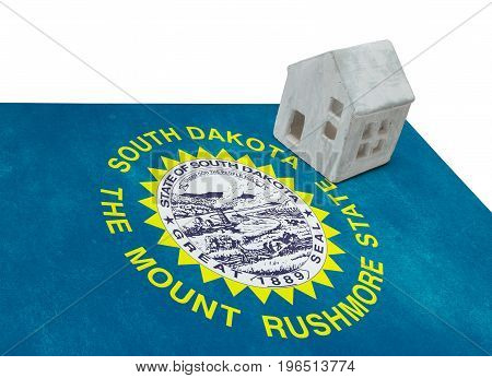 Small House On A Flag - South Dakota