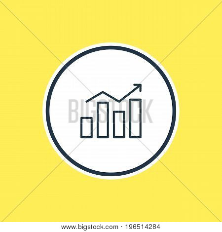 Vector Illustration Of Diagram Outline. Beautiful Advertising Element Also Can Be Used As Statistics  Element.