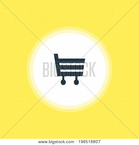 Beautiful Map Element Also Can Be Used As Shopping Cart Element. Vector Illustration Of Market Icon.