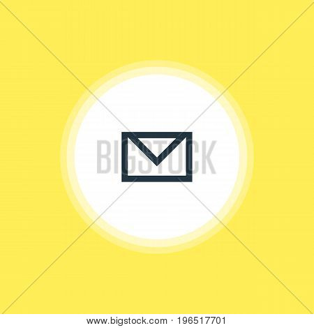 Vector Illustration Of Mail Icon. Beautiful Interface Element Also Can Be Used As Letter  Element.