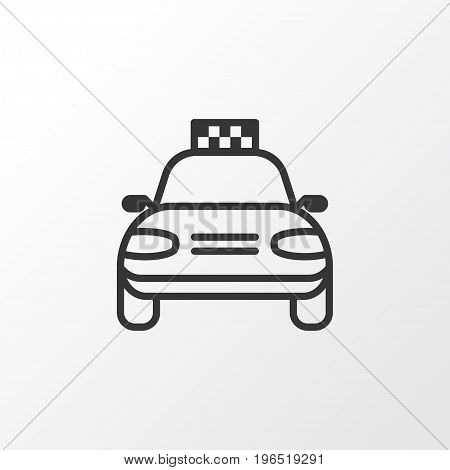 Premium Quality Isolated Car Vehicle Element In Trendy Style. Taxi Icon Symbol.