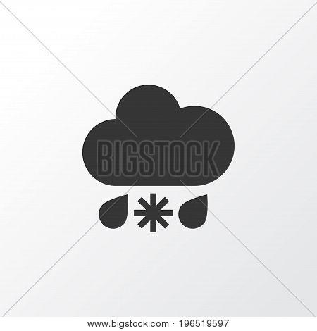 Sleet Icon Symbol. Premium Quality Isolated Wet Element In Trendy Style.