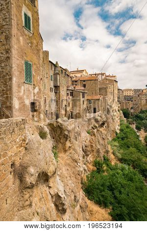 Panorama of Pitigliano a town built on a tuff rock is one of the most beautiful villages in Italy.