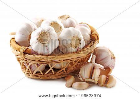 Fresh Garlic isolated on a white background