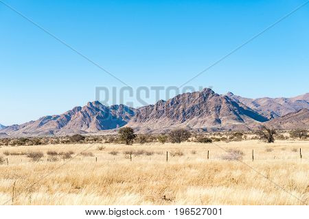 The Great Karas Mountains between Grunau and Keetmanshoop in the Karas Region of Namibia