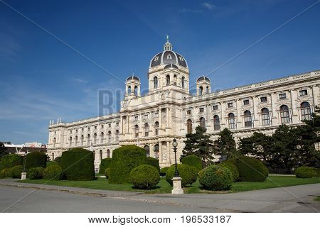 Beautiful View Of Famous Naturhistorisches Museum (natural History Museum) In Vienna, Austria.