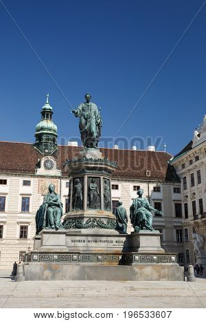 Monument To Emperor Franz I Of Austria (kaiser Franz Denkmal) In The Hofburg Imperial Palace. Vienna