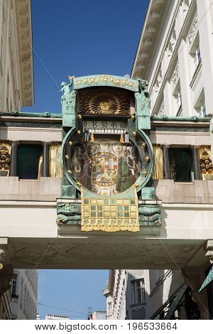 Anker Clock (ankeruhr, 1911) In Hoher Markt - Famous Astronomical Clock In Vienna, Austria