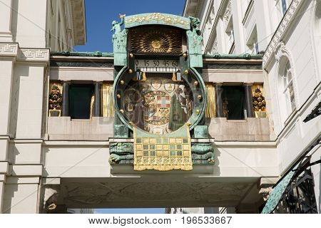 Ankeruhr (anker Clock), Famous Astronomical Clock In Vienna, Austria
